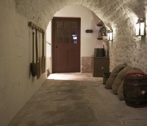 Passage from kitchen