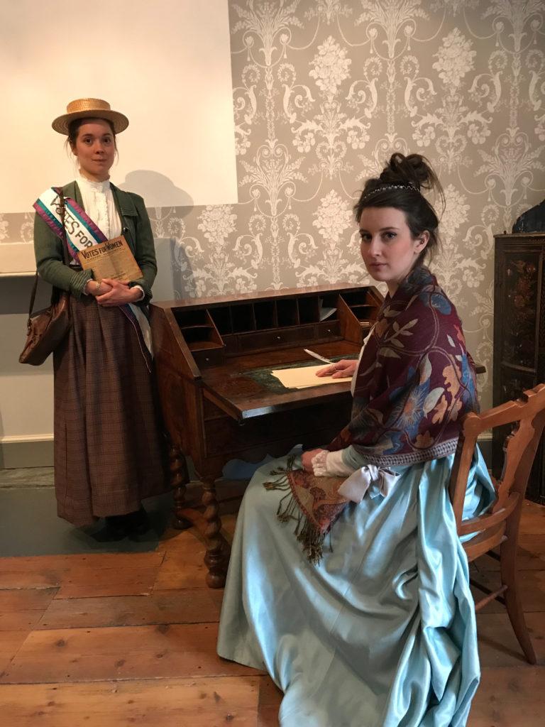 Katy Jane as Elizabeth Montagu and Lizzie Crarer as Mary Blathwayt
