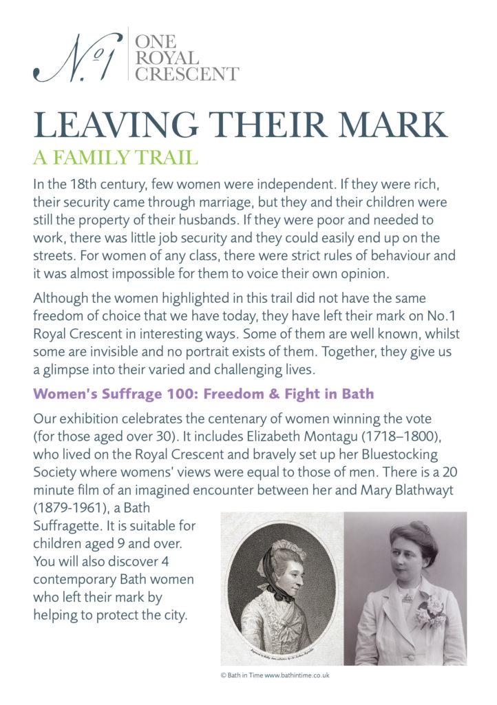 Leaving their mark - Family trail